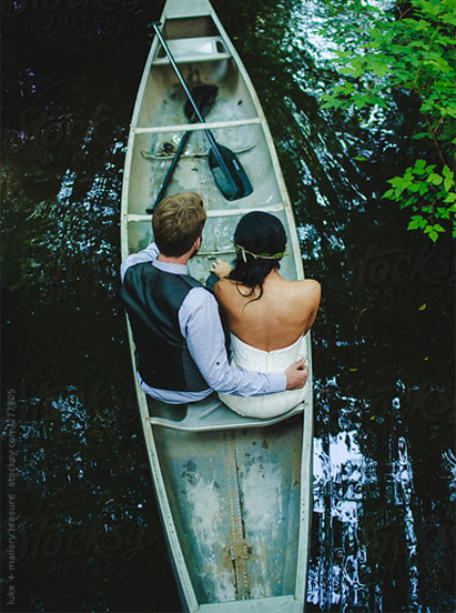 photo of couple in a boat